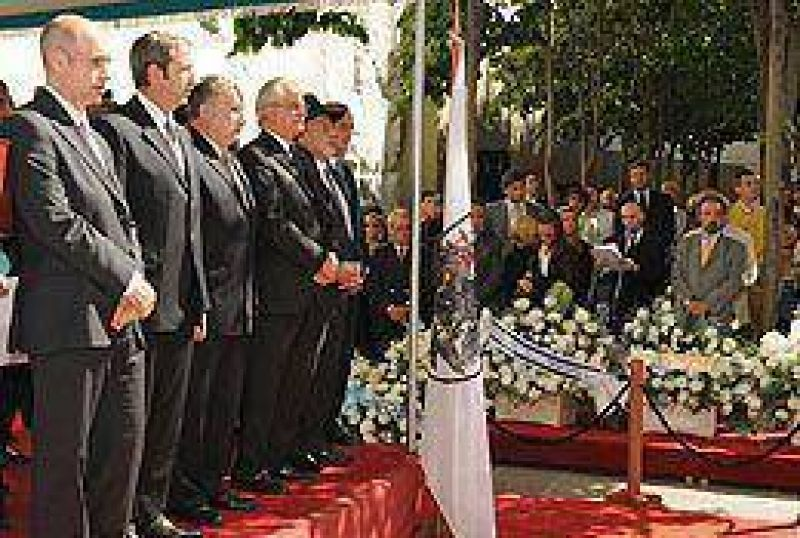 Acto en la Plaza Embajada de Israel, a 17 años del atentado