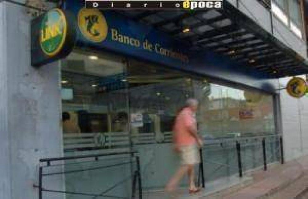 Disminuyó toma de créditos y niveles de depósitos en Corrientes.