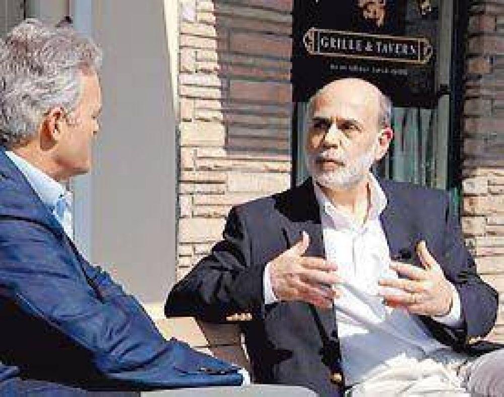 Bernanke predijo que la recesión termina este año y alentó a los mercados
