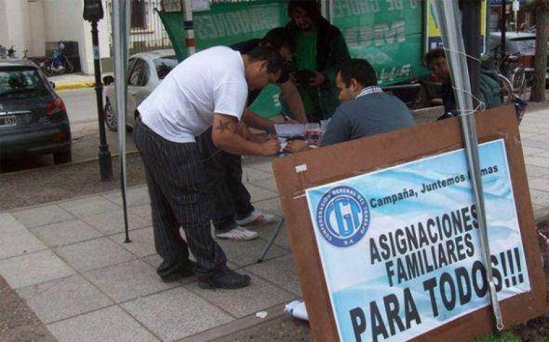 Sindicato de Camioneros junta firmas para universalizar las asignaciones familiares