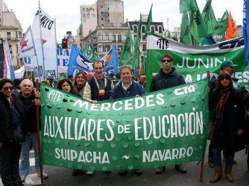 Hubo trabajadores mercedinos en Plaza de Mayo