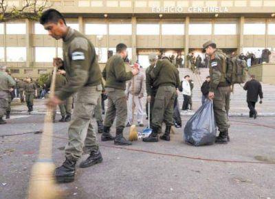 Las fuerzas de seguridad levantaron la protesta y se descomprime el conflicto