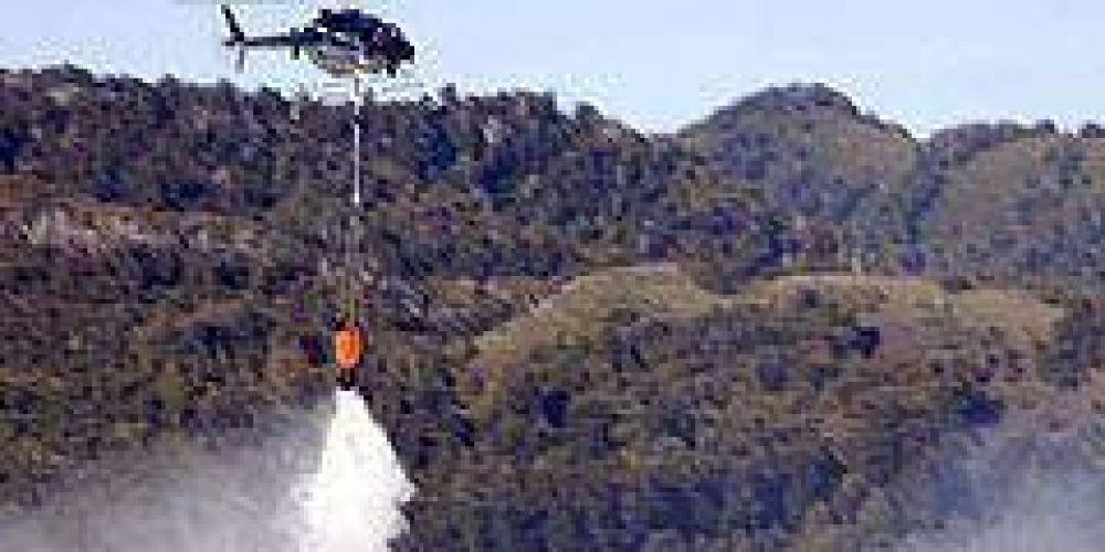 Sigue fuera de control el incendio en el Parque Nacional Lanín