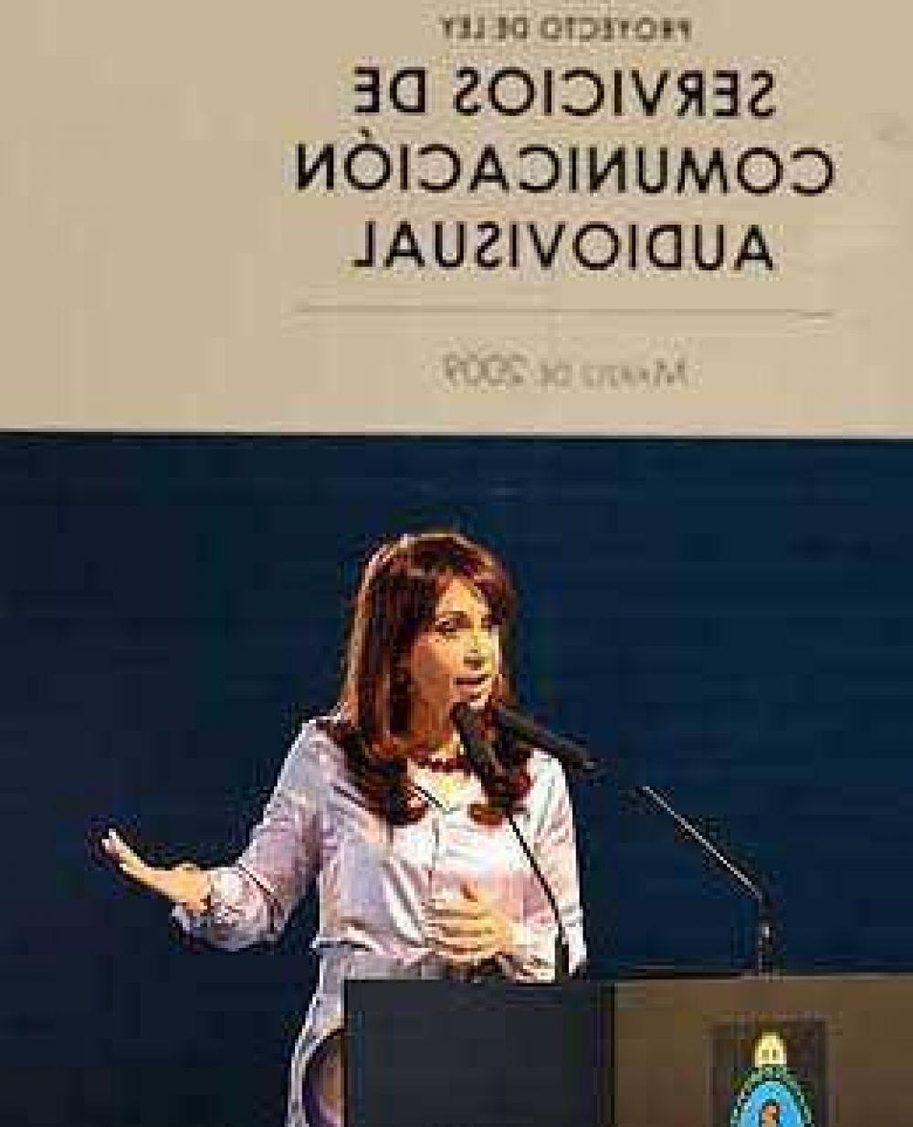 Cristina dio a conocer el proyecto de la nueva ley de Radiodifusión y dijo que evitará los monopolios