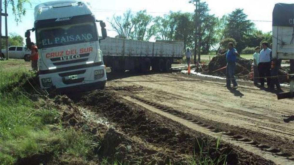 Gran malestar de los camioneros