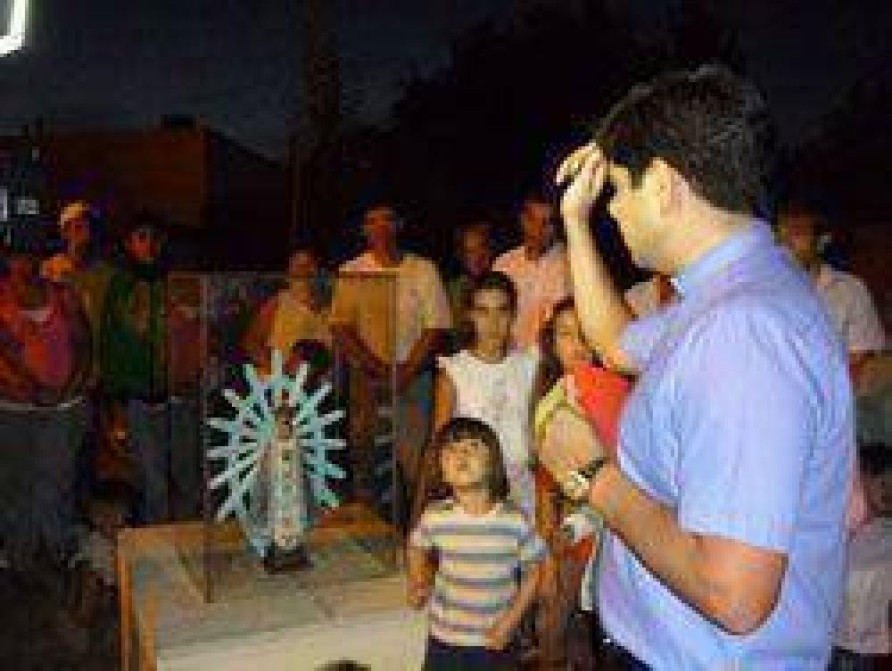 Bendición de una ermita en el barrio Fátima