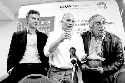 Moyano y Macri, juntos contra los K