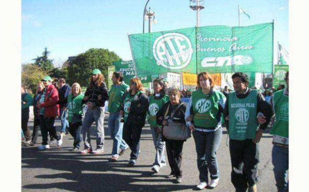 ATE Pilar marcha al Congreso por una nueva ley de Riesgo de Trabajo