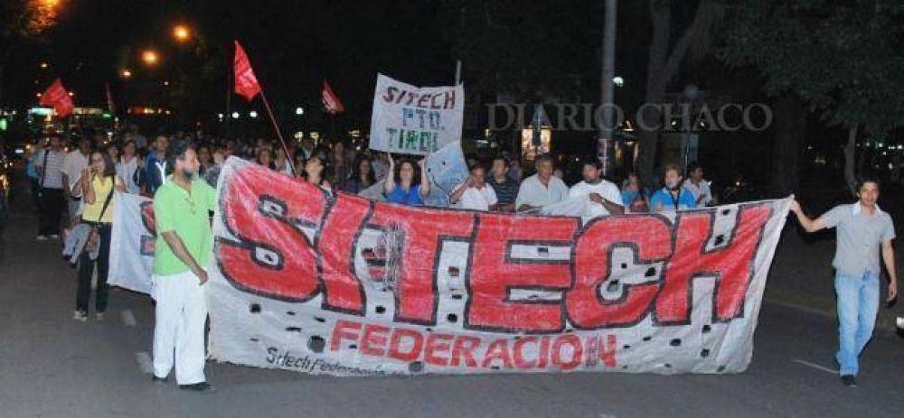 """Marcha de SITECH Federación: """"El gobernador no puede limitarse a decir que no hay fondos"""""""