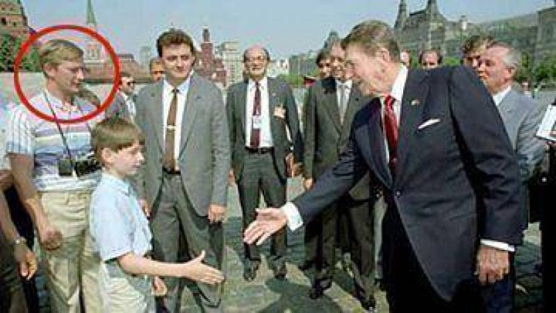 Putin, espía de la KGB disfrazado durante visita de Reagan a Rusia