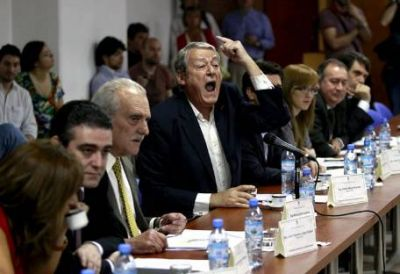 """La oposición se fue indignada por el """"per saltum"""", que igual obtuvo dictamen"""