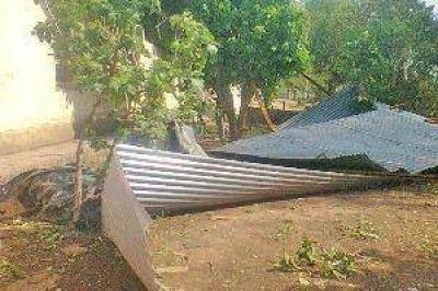 El GER tuvo que asistir a familias anegadas en Guampacha