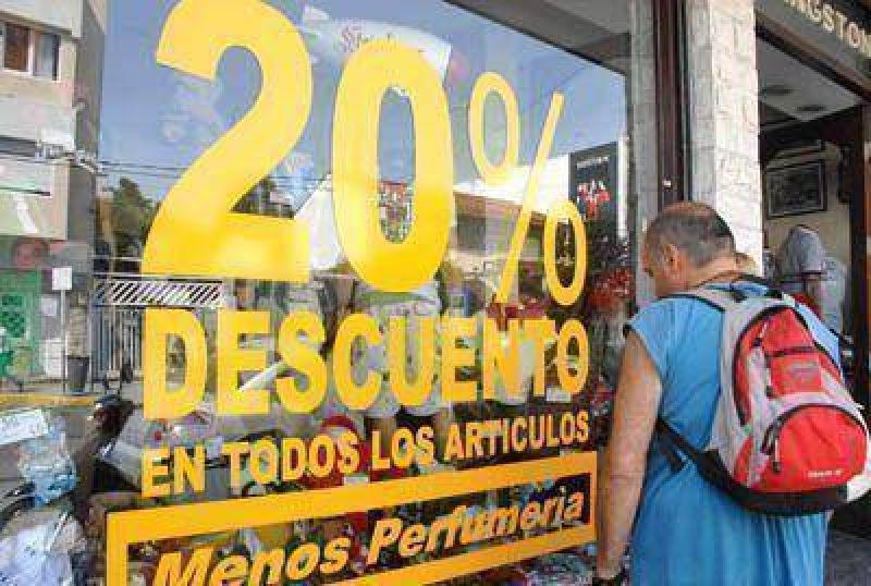 El comercio marplatense registra una importante desaceleración económica
