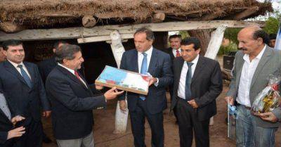Beder Herrera y Daniel Scioli participaron del acto en la casa del caudillo riojano