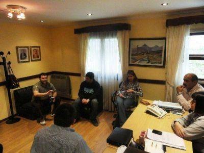 Los legisladores radicales recibieron a militantes de la �Franja Morada�