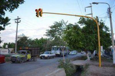 Rawson y Pocito inauguraron semáforos en el límite de ambos departamentos