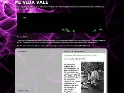 """""""Mi vida vale"""", el blog de la periodista acusada"""