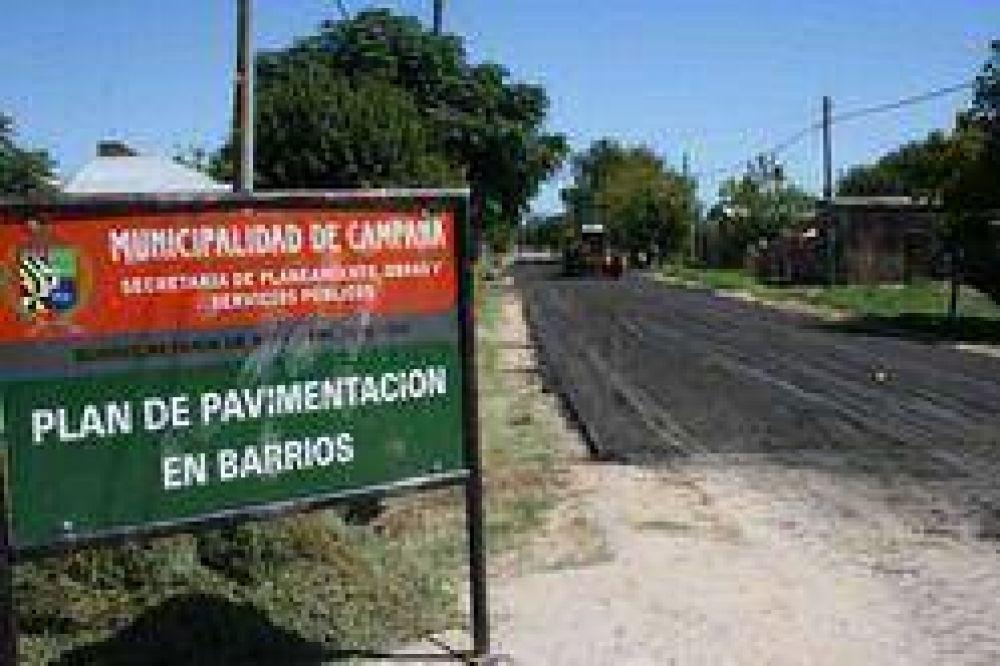 En el barrio Las Acacias Continúan las obras de asfalto