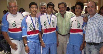 El gobernador recibió a medallistas de Juegos Evita