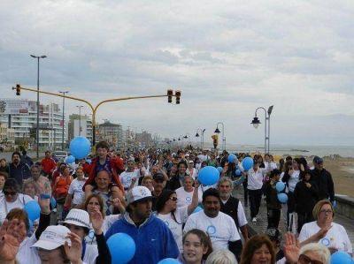 Cientos de personas caminaron en Mar del Plata en el Día Mundial de la Diabetes