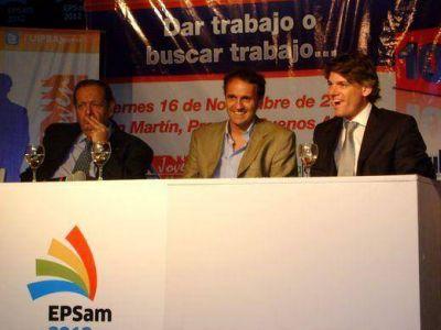 Nicolás Scioli y Katopodis entregaron distinciones a jóvenes en la Epsam