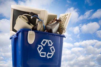 Glew: El Municipio Instaló Un Nuevo Puesto De Reciclaje De Residuos Electrónicos