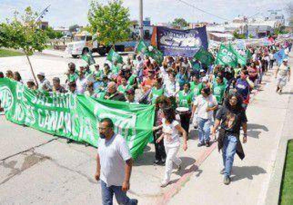 La protesta se sintió en la región