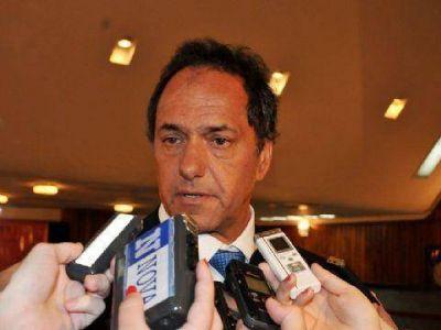 """Scioli: """"Cuánta razón tenía Néstor cuando llamaba a Cristina 'Presidenta Coraje'"""""""