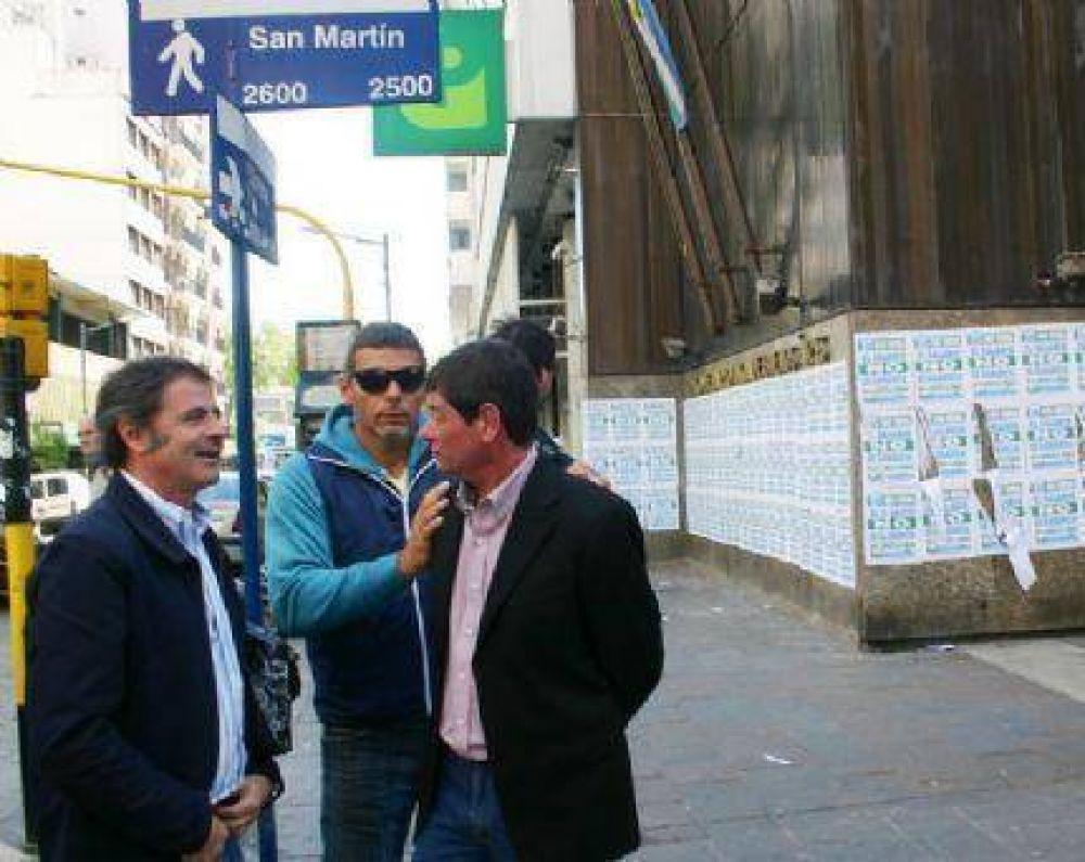 Contundente apoyo de los Bancarios a la medida de fuerza en Mar del Plata