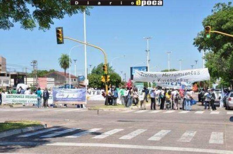Corte de puente, la postal que dejó el paro nacional en Corrientes