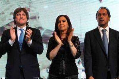 Sin mencionar el fallo de Griesa, Cristina Kirchner defendi� su gobierno junto a Boudou y Scioli