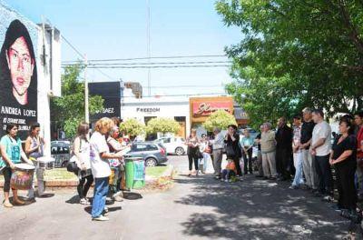 Inauguraron un mural que recuerda a Andrea López, Carla Figueroa y Sofía Viale