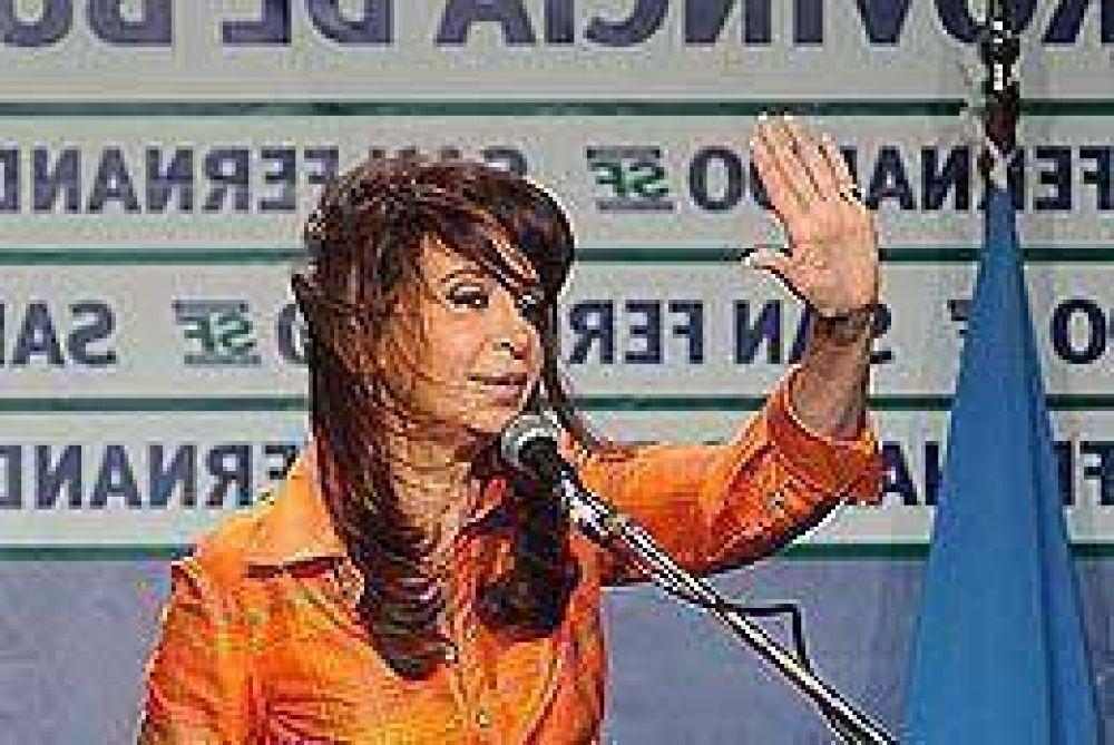 """Cristina trató de """"egoísta"""" al Campo y culpó a la """"desigualdad"""" por la inseguridad"""