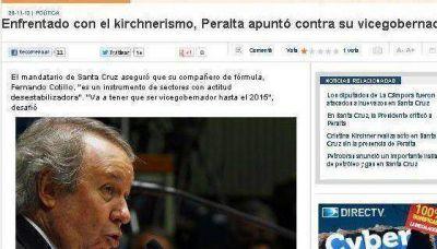 Interna entre Peralta y Cotillo en los medios nacionales