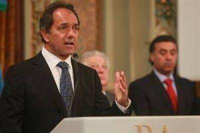 """Scioli: """"El desarrollo sustentable se va a dar por la inversión privada"""""""