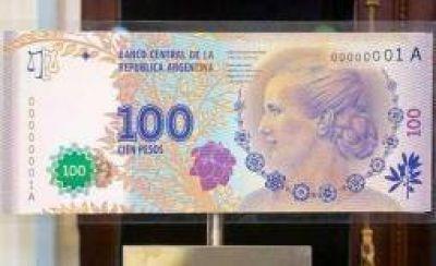 Están en plena circulación los billetes de $100 con la imagen de Evita