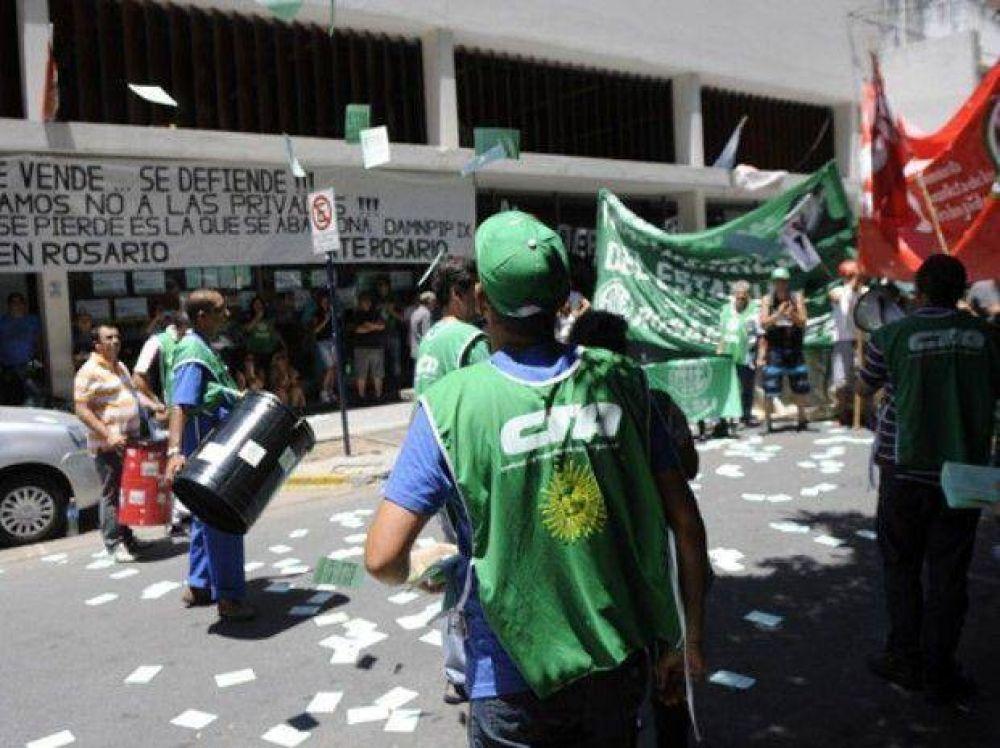 Paro de los trabajadores de Pami Rosario contra la privatización del servicio de ambulancias
