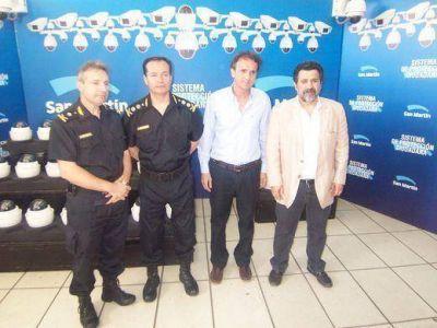 Katopodis presentó las nuevas 130 cámaras de seguridad para San Martín