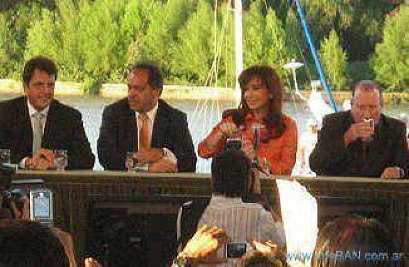 Visita presidencial Cristina visitó San Fernando, anunció obras y habló de inseguridad