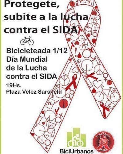 Bicicleteada por la lucha contra el Sida