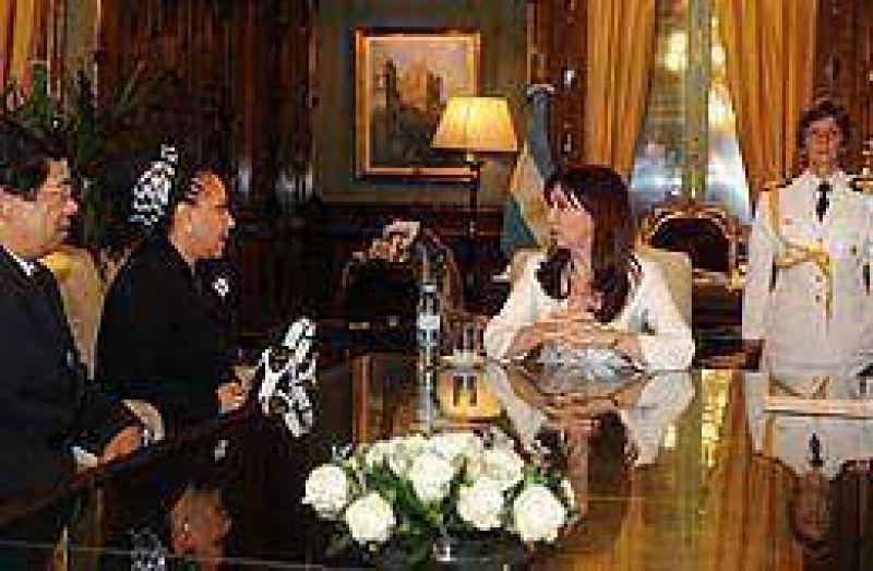 Cristina recibi� a la senadora colombiana Piedad C�rdoba