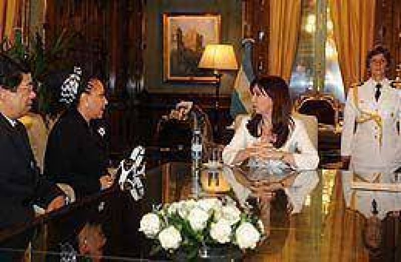 Cristina recibió a la senadora colombiana Piedad Córdoba