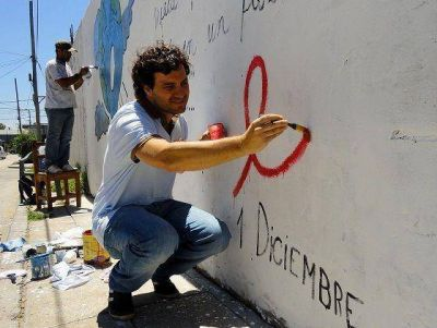 Jornada de concientización de lucha contra el VIH-SIDA en Villa Adelina