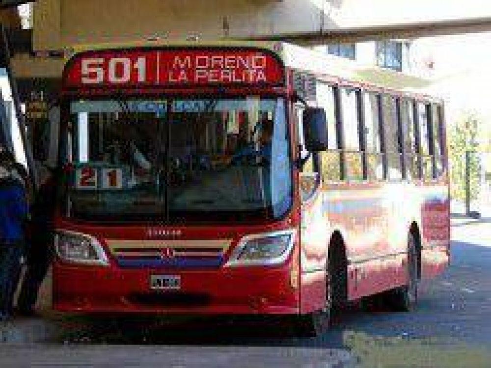 Moreno: Colectiveros de la línea 501 hicieron paro y proponen suspender el turno noche
