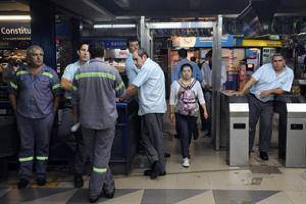 La UTA decretó un paro total en las seis líneas del subte y el Premetro tras los incidentes