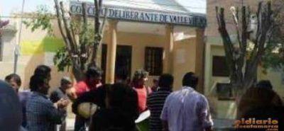 Trabajadores del Concejo Deliberante de Valle Viejo tomaron el edificio