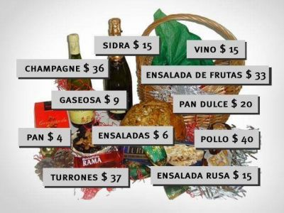 La canasta navideña tiene un valor total que va de los $230 a los $455