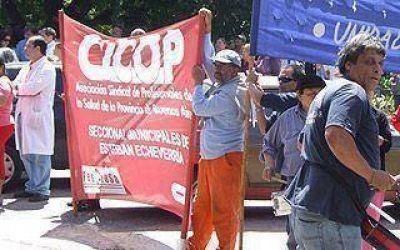 """ECHEVERRÍA: Santamarina: CICOP renovó reclamos y denunció """"persecución"""""""
