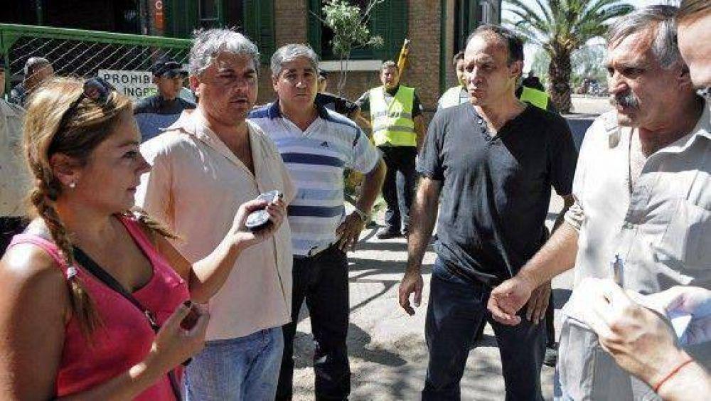 Incidentes en la protesta de los municipales de Capital
