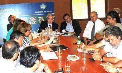 Insausti y Tecchi dialogaron con los referentes sindicales
